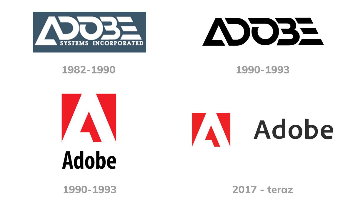 adobe logo historia ewolucja